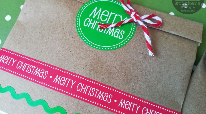 SRM stickers – kraft bags for Christmas presents