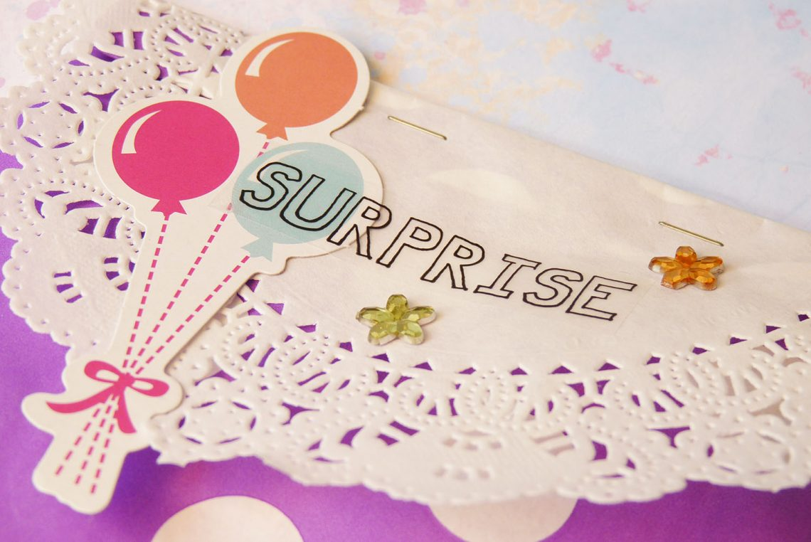 SRM Stickers patterned birthday gift bag