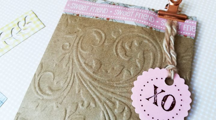 SRM stickers embossed kraft bag for a little gift