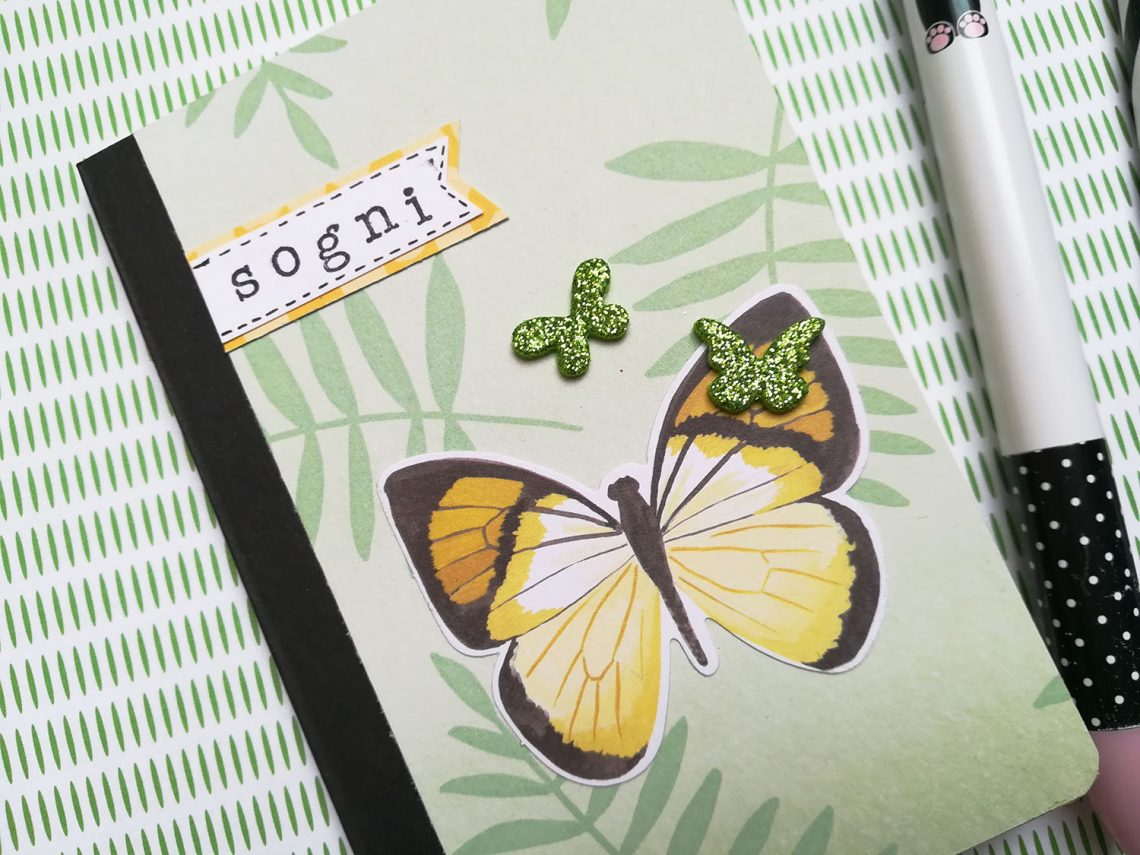 Crea il tuo Kit con Angela & Giorgia – altered notebook with May kit
