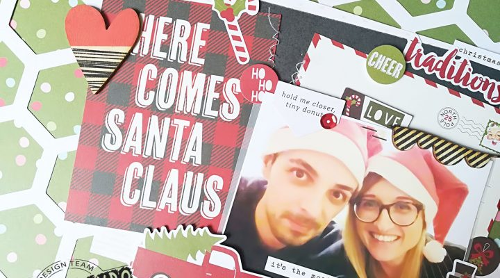 Scrappando – Christmas in July layout