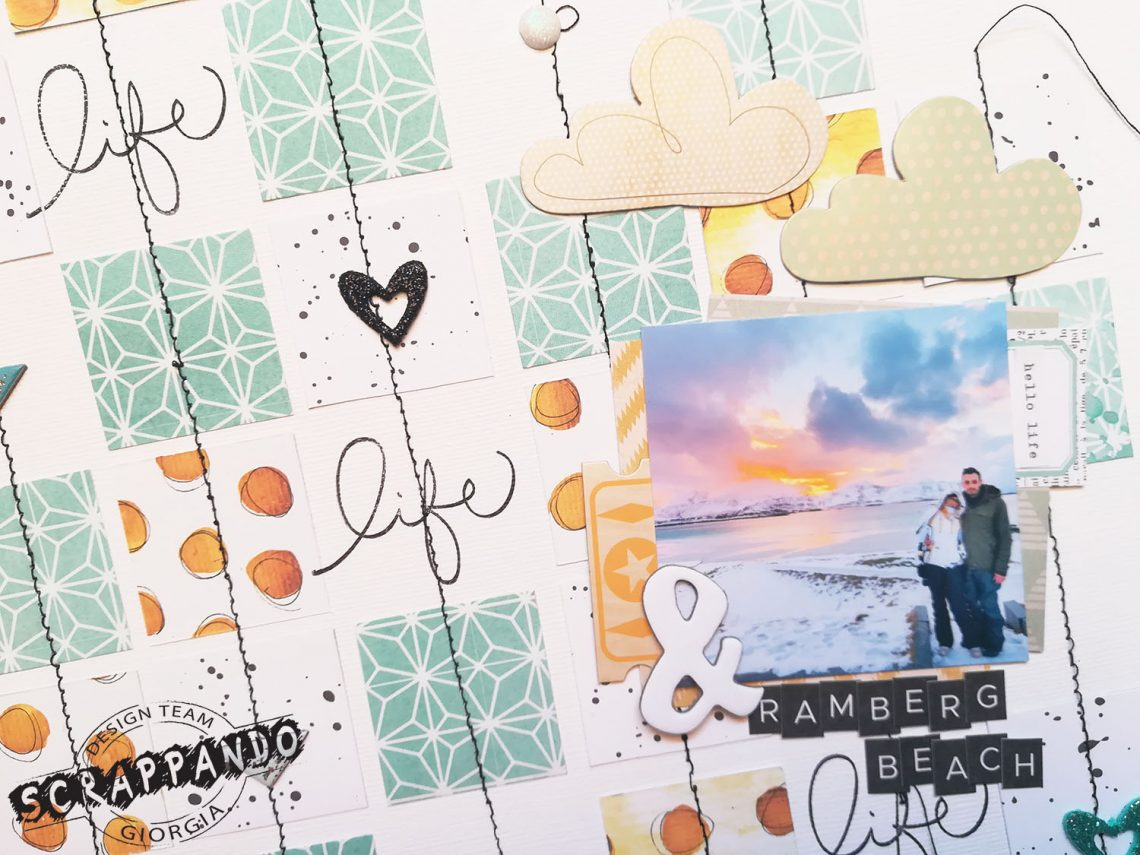 Scrappando – patterned papers squares background