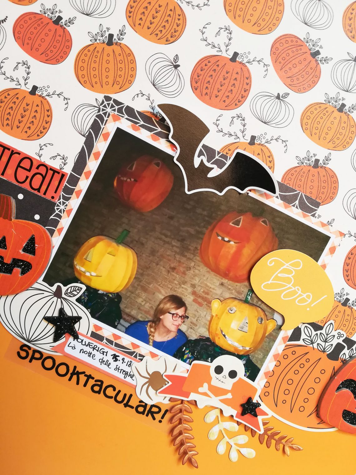 Time to trick or treat layout