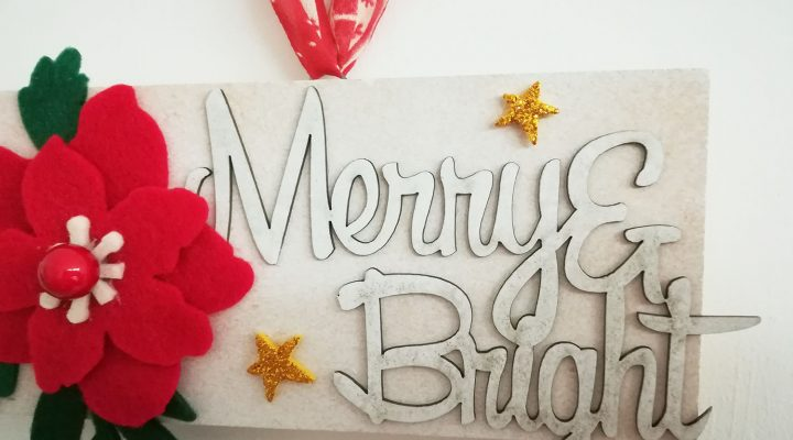 Home decor – wood block for Christmas