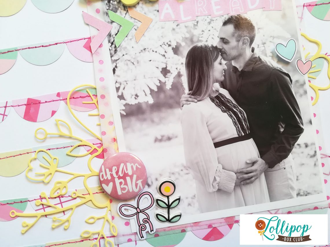 Lollipop Box Club – layout with February kit