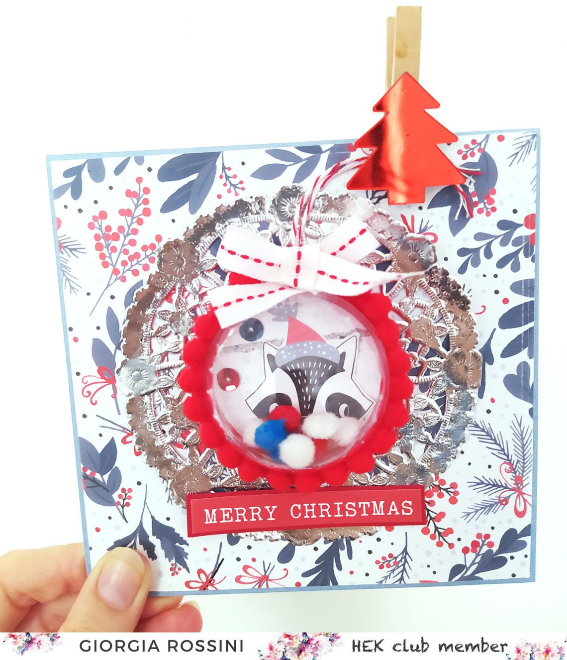 HEK Club – Christmas card with removable shaker ornament