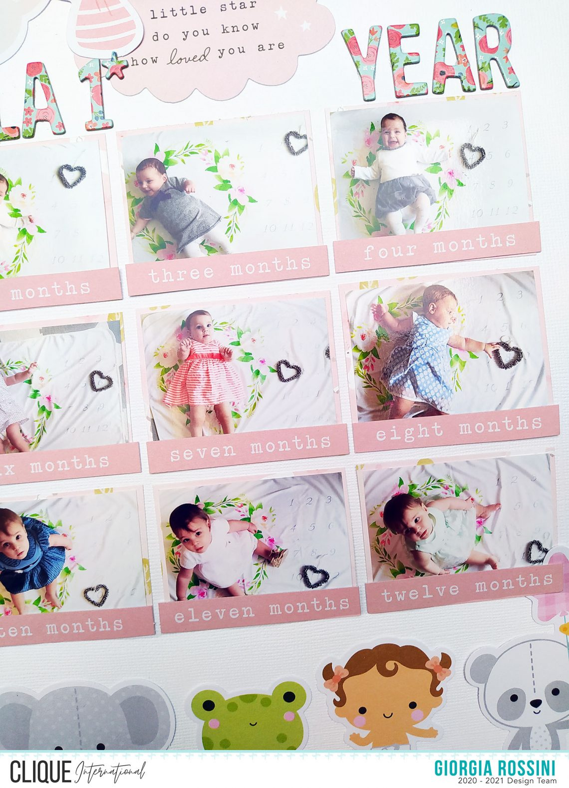 Clique International – Baby first year layout