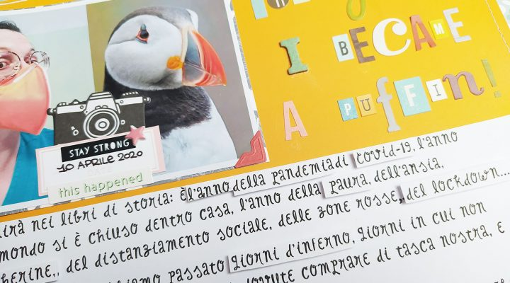 """""""2020: the year I became a puffin"""" layout"""